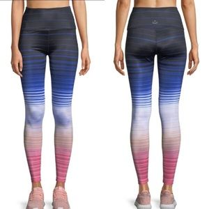 Beyond Yoga Lux Striped Colorful High Rise Legging